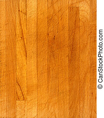 close detail of beech block chopping board surface