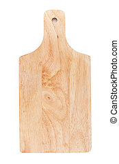 Chopping board. Isolated on white background. View from ...