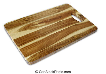 Chopping board - New chopping board isolated on plain...