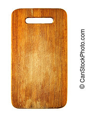 Chopping board isolated over the white background