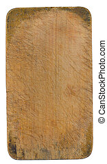 Chopping board - Wooden chopping board with clipping path