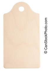 Chopping board - Wooden chopping board isolated on white...