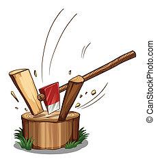 Chopping log - Illustration of a chopping log