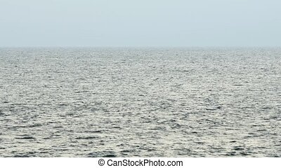 Choppy Sea Surface off Hikkaduwa, Sri Lanka - Choppy surface...