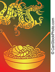 Chopstick And plate 12 - isolated picture of chopsticks on a...