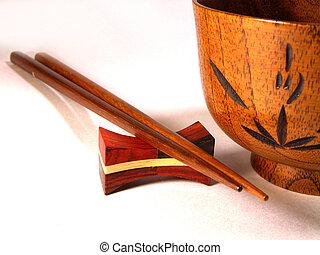 Chopsticks And Bowl - chopsticks and wooden bowl-Japanese ...