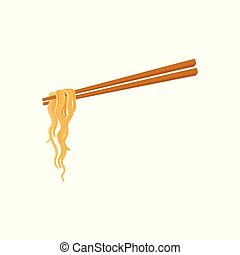 Chopsticks and noodle, Chinese, Asian food