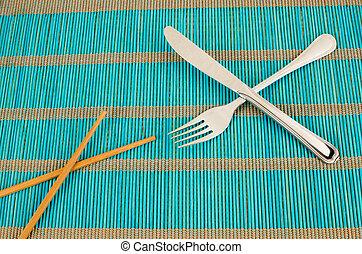 Chopsticks or fork
