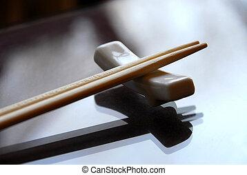 Chopsticks on a holder