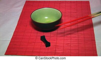 chopsticks - Japanese cuisine, cooking for dinner