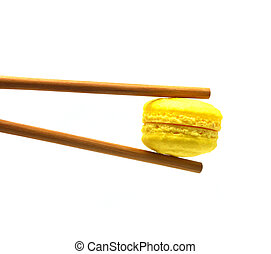 Chopsticks with macaroon