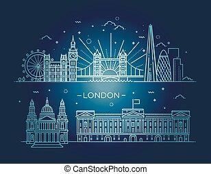 chorągiew, city., linearny, londyn