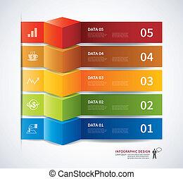 chorągiew, dane, infographics, patka, 3d