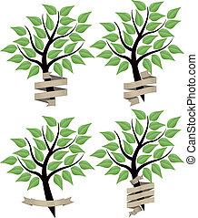 chorągiew, drzewo