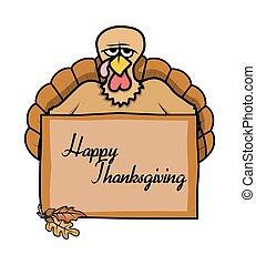chorągiew, dziękczynienie, dzień, powitanie