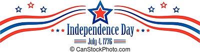 chorągiew, dzień, niezależność