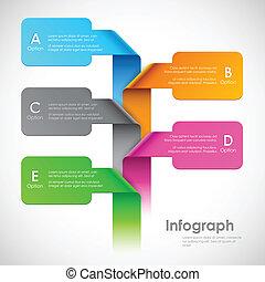 chorągiew, opcje, infographics
