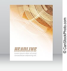 chorągiew, zbiorowy, abstrakcyjny, lotnik, projektować, broszura, technologia, albo, szablon