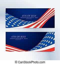chorągwie, bandera, 4 lipca, amerykanka