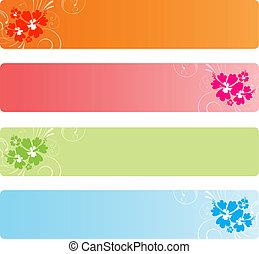 chorągwie, barwny, florals