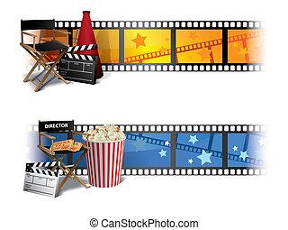 chorągwie, kino