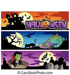 chorągwie, komplet, halloween, 3