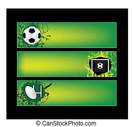 chorągwie, piłka nożna, rugby, lekkoatletyka