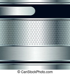 chorągwie, tło, metaliczny, abstrakcyjny, srebro