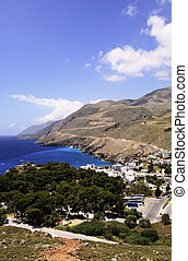Chora Sfakion and Sweetwater Bay - A view over Chora...