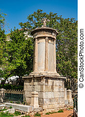 Choragic Monument of Lysicrates in Plaka, Athens, Greece