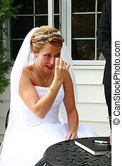 chorando, casório
