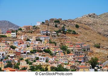 Chorio village, Symi island