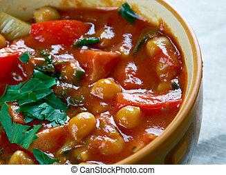Chorizo chickpea soup