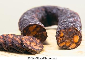 Chorizo ??Iberian Spanish products from pigs fed free