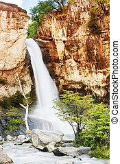 Chorrillo del Salto waterfall in Patagonia