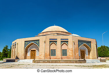 Chorsu, an old domed bazaar building constructed - Samarkand, Uzbekistan