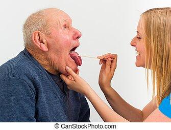 chory, starszy człowiek