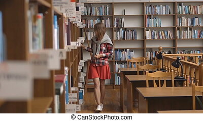 Chosing a Book in Library