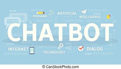 Chotbot concept illustration.