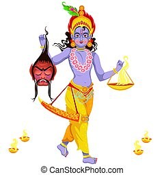 Choti Diwali and Krishna with Narak Chaturdashi - Choti...