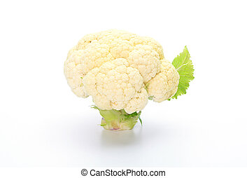 chou-fleur, blanc, isolé, fond