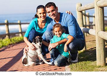 chouchou, agréable, chien, famille