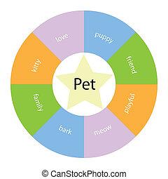 chouchou, circulaire, concept, à, couleurs, et, étoile