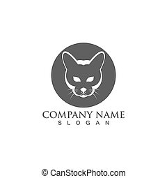 chouchou, logotype, chat, vecteur, conception, logo