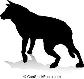 Chouchou Héraldique Chien Loup Animal Rampant Ou