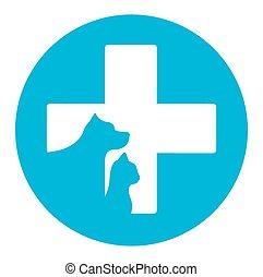 chouchou, vétérinaire, aide, icône