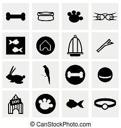 chouchou, vecteur, ensemble, icône
