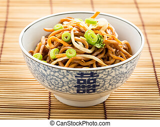 Chow mein - stir-fried noodles with vegetables