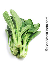 Choy Sum on White Background