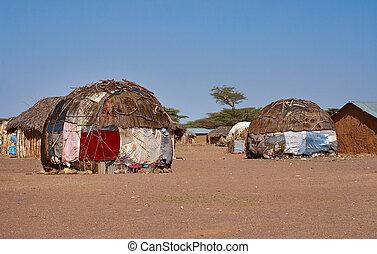 chozas, africano